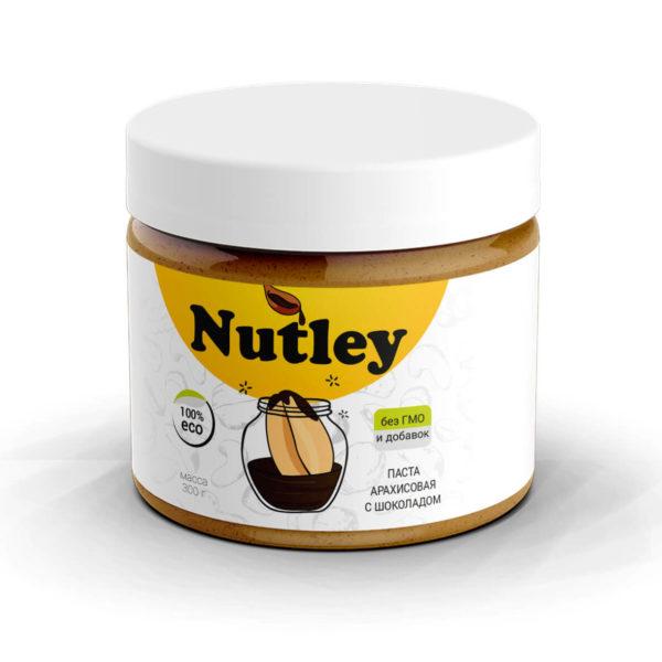 Паста арахисовая с бельгийским шоколадом Nutley