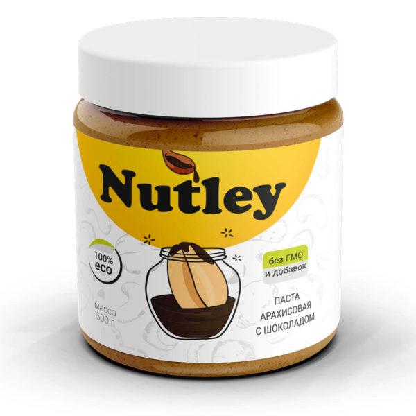 Паста арахисовая с шоколадом Nutley
