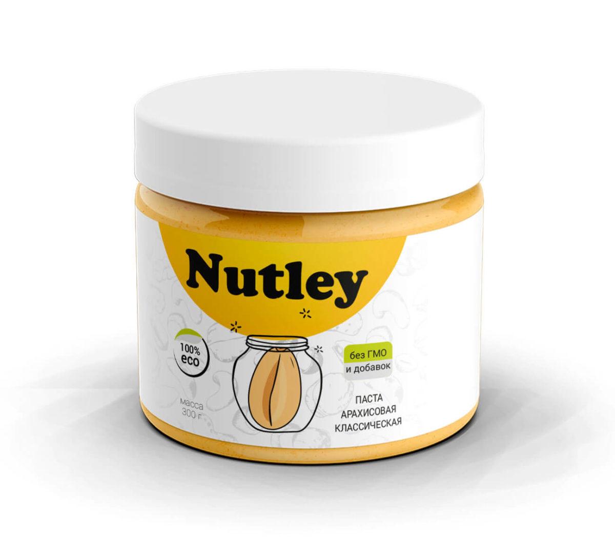 Арахисовая паста классическая Nutley (300г)