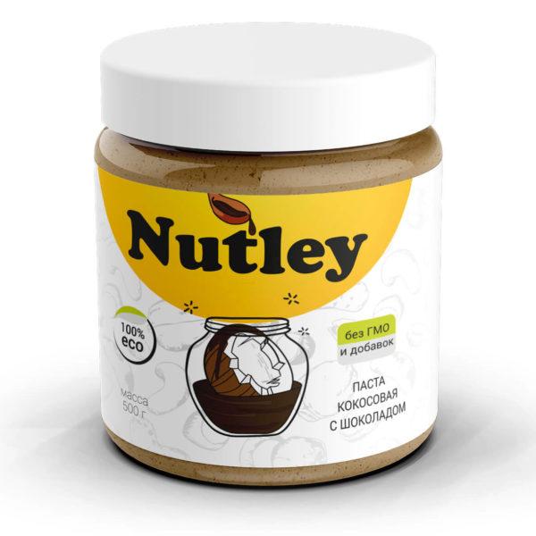 Паста кокосовая с бельгийским шоколадом Nutley